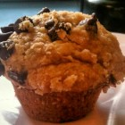 banana chocolate chip coffee cake muffins with streusel topping - rachael ray recipe